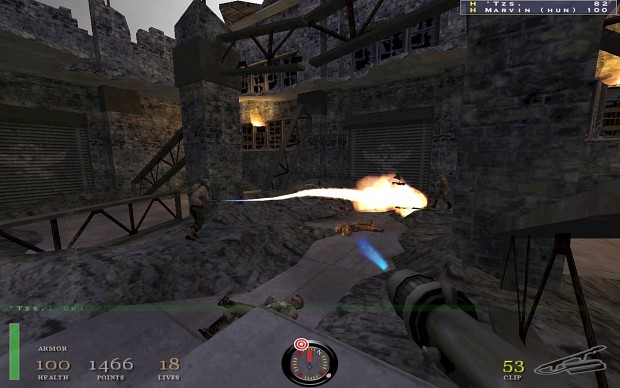 Flamethrower in a COOP-Action