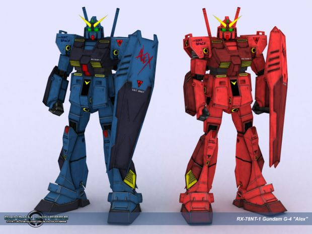 Gundam NT-1 Alex Alternate Skins.