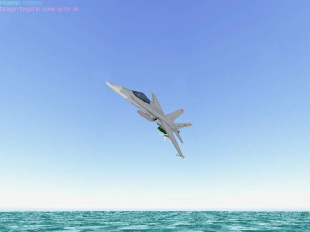 F/A-18 Over Water