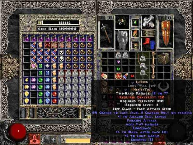 Slither Runeword Image Zy El Trial By Fire Mod For Diablo II Lord.