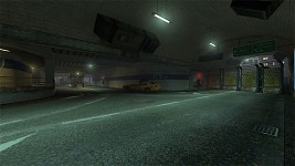 Parking lot and subway station