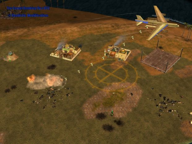 The Carpet Bombing By a B52