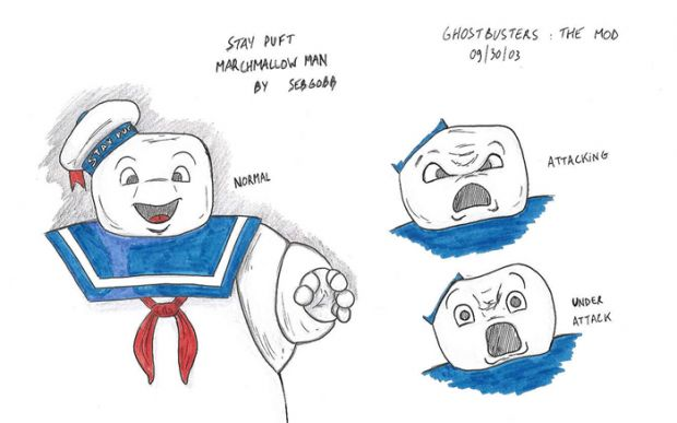 Stay Puft Marchmallow Man characters.