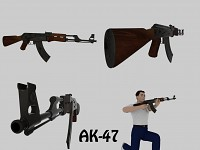 High poly AK-47