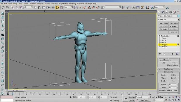 Phase one clone trooper model