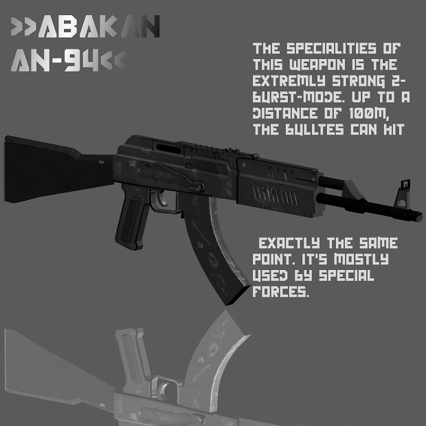 Some render images of the Abakan/An-94