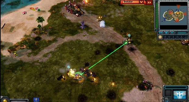 Allied AI supporting attack with cryocopters