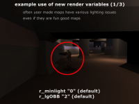 Quake3 Hopper Render Setting Comparison