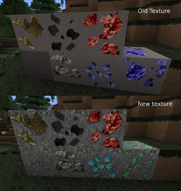New and old Stone texture