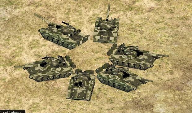 Т-90S и Т - 72 новая шкурка