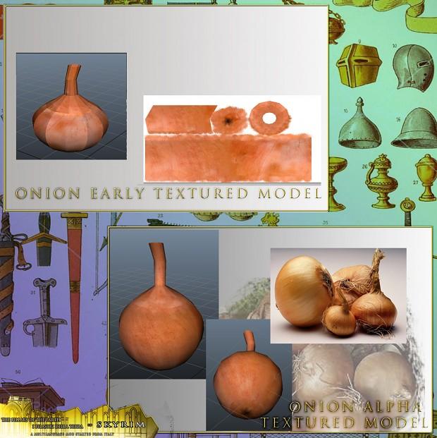 Onion alpha textured model by CervelX