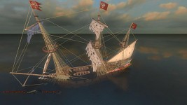 Galleon sinking