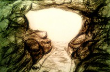 Nature Island (Looking out of the Cave) ConceptArt