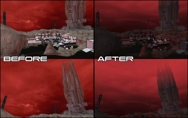 Eden Prime Lighting Overhaul (Red Variant)