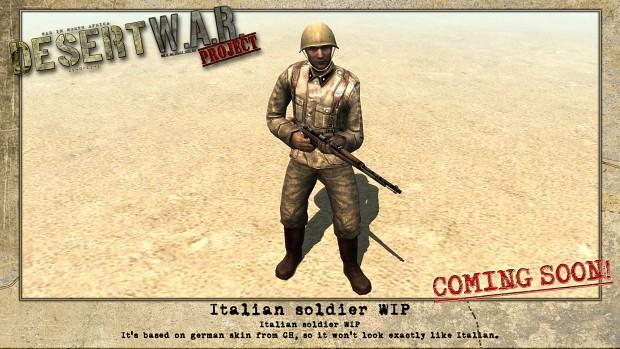 Italian soldier WIP
