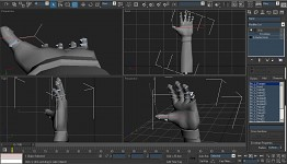 Jacks Hands, complete geometry and rig.