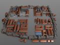 Roman metropolis Strat Map model