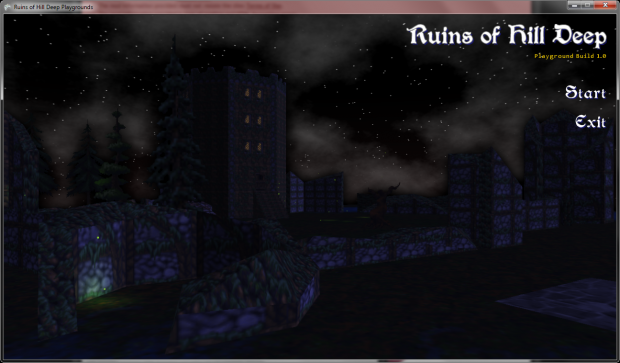 Ruins of Hill Deep Playgrounds 1 Title Screen