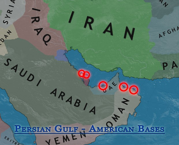 Persian Gulf -  American Bases