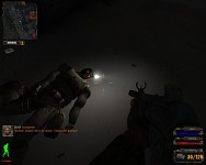 Switched-on flashlight on dead npc