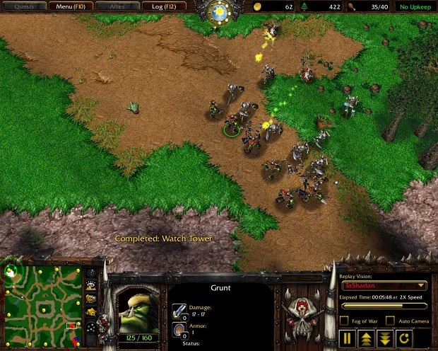 Gameplay Shoots Orc vs Undead