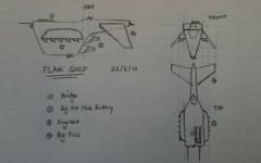 SDF Flak Frigate Hand Drawn Concept