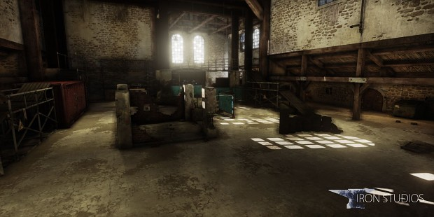 Warehouse with lighting