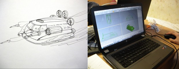 From concept art to realisation