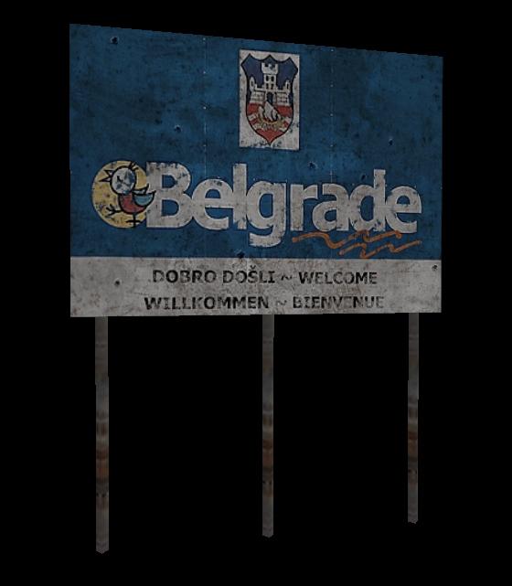 Belgrade Welcome Sign WIP