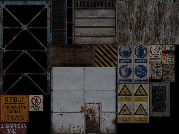 Industrial sector textures