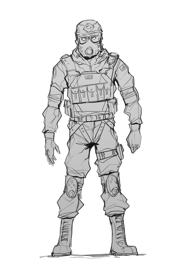 Black operations soldier - Full body