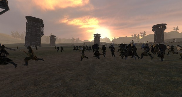 Minas Tirith under siege (scene made by Akathir)