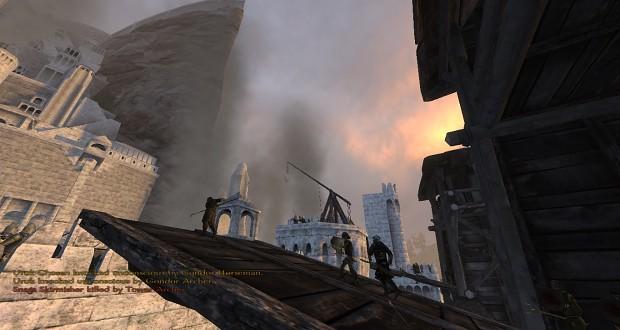 Minas Tirith under siege (scene made by Akathir)