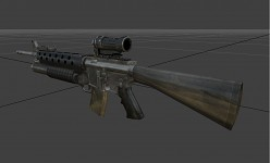 M16 M203 with Eclan