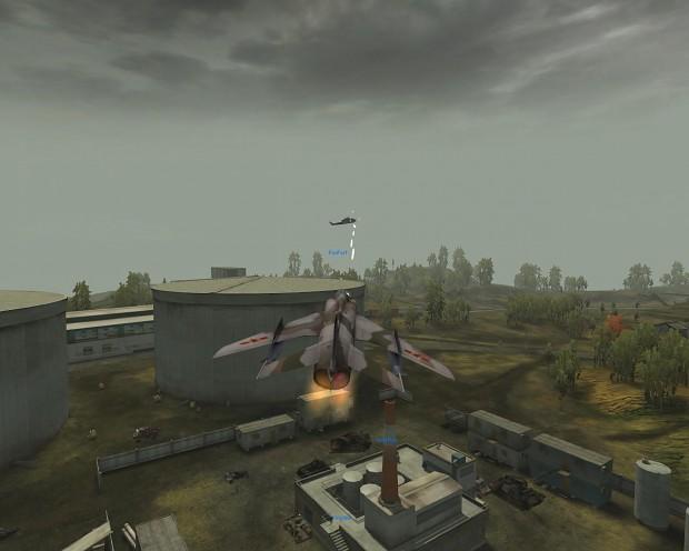 Q-5 Fantan over Daqing Oilfields