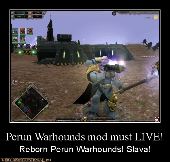 Perun Warhounds Mod must be alive!