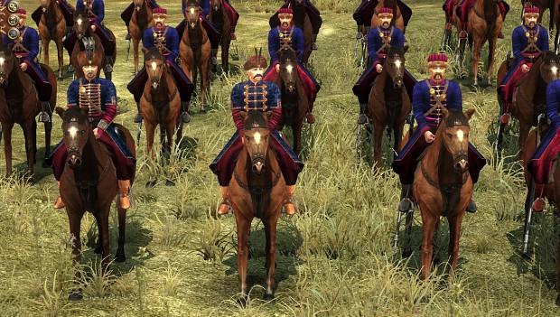 Mounted Zaporozhian Cossacks