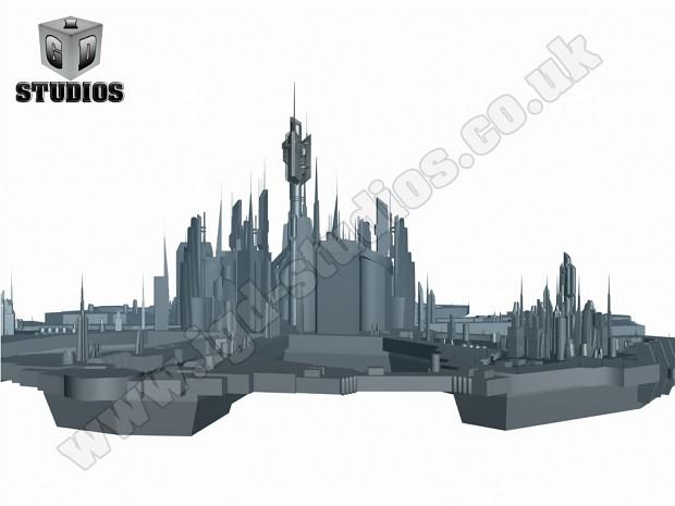 Renders of the Final model of Atlantis