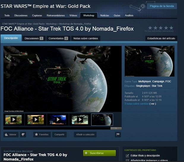Star Trek TOS 4.0 Steam Workshop Released!