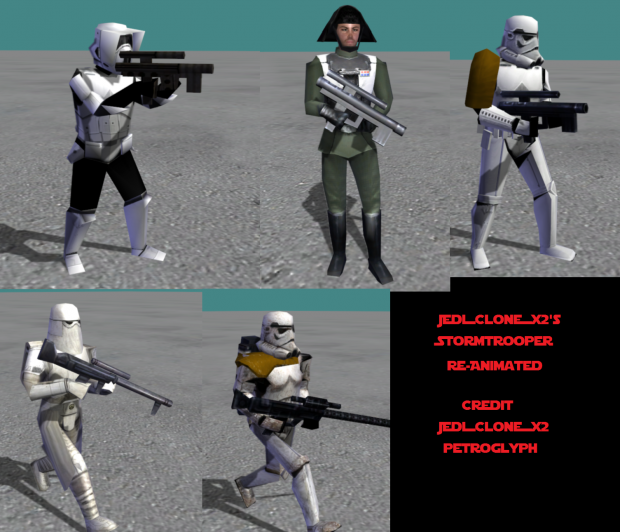 Stock Imperial Soldiers Re-Animated