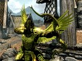 golden armor HD saint seiya style (The Elder Scrolls V: Skyrim)
