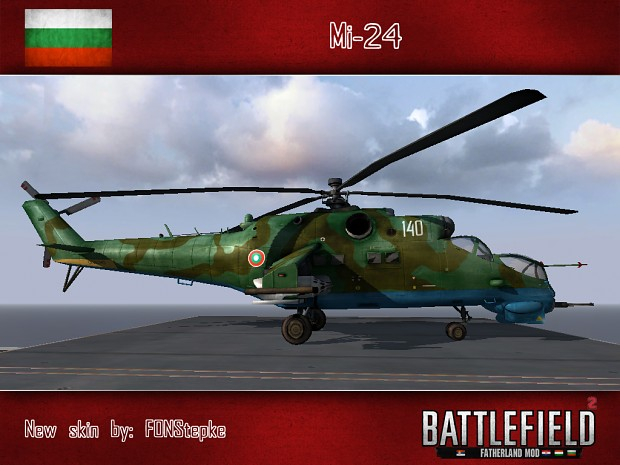 Mi-24 (Bulgarian air force skin, by FONStepke)