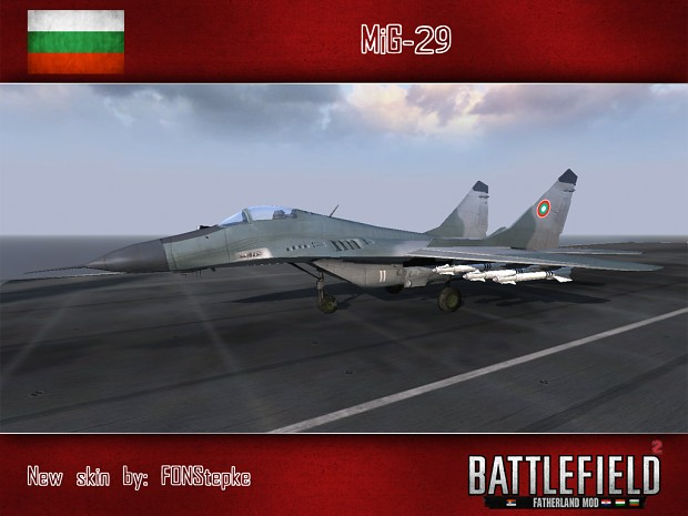 MiG-29 (Bulgarian air force skin, by FONStepke)
