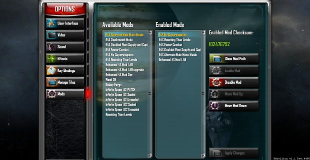 Mod Order Example