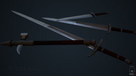 Ethisian Fine Steel Weapons Render