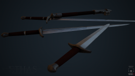 Ethisian Fine Steel Weapons Render 2
