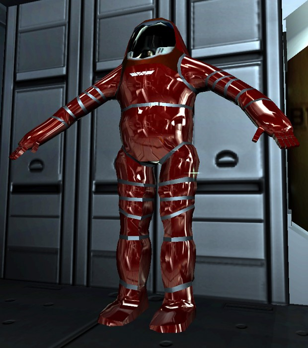Red EVA suit