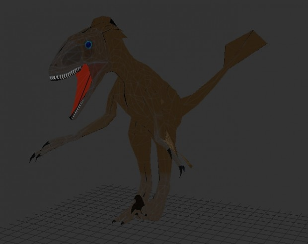 Deinonychus rigged with placeholder animations