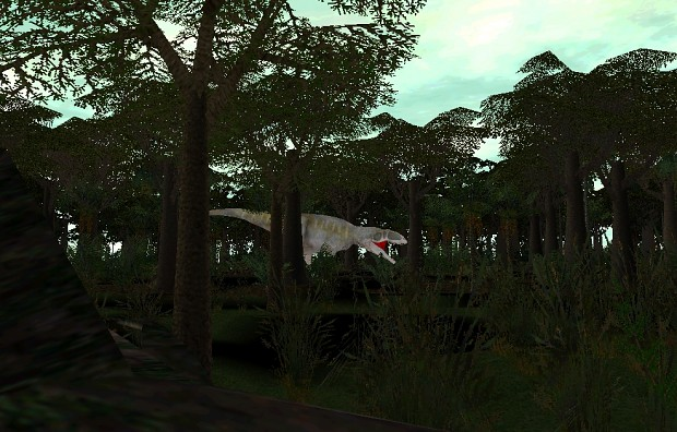 Giganotosaurus in the forest