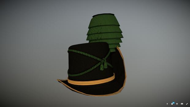 Officer's hat of the 14th Hanoverian light infantry regiment
